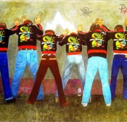 Artista Gang Stanley Mouse, Alton Kelley, Victor Moscoso, Pat Ryan, Dave Sheridan, Tim Harris, Larry Noggle, Linda Miller and Enid Hansen